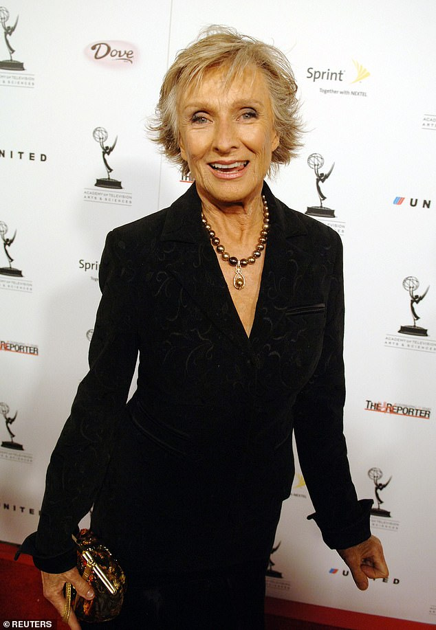 RIP:Leachman's passing was confirmed by the star's son to TMZ on Wednesday, with the outlet stating that Leachman 'passed away of natural causes Tuesday night at her home in Encinitas, California, with her daughter Dinah by her side'; Cloris pictured in 2005
