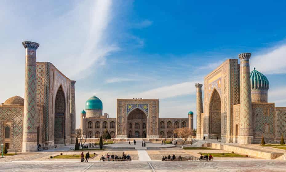 The Registan place in Samarkand, Uzbekistan.