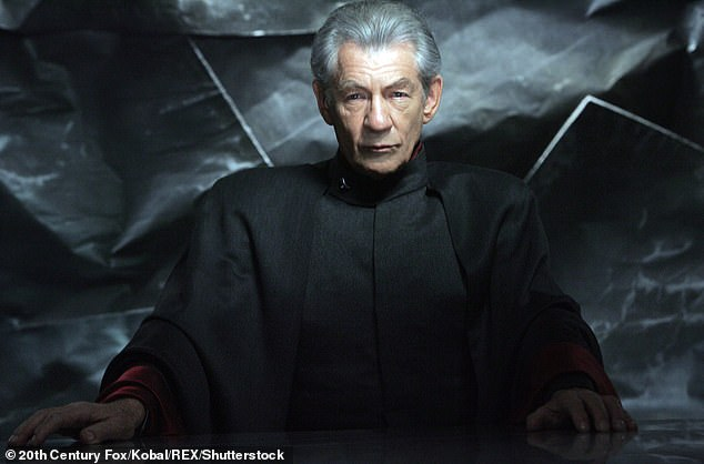 Big screen role: The veteran British actor starred as Magneto in the X-Men franchise