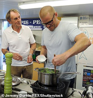 As a so-called 'superfood', seaweed has proven popular with celebrity chefs including Heston Blumenthal (pictured) and Jamie Oliver, can be used as an ingredient in sushi and is commonly used as a thickening agent in the manufacture of ice cream