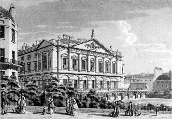 Queen's Walk was built for George II's consort, Queen Caroline of Ansbach, who made the park fashionable in the 1720-30s, with palatial buildings such as Spencer House (above) added later in the 18thCentury