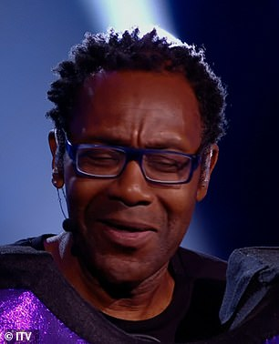 Revealed! Sir Lenny Henry, pictured, and A-Ha singer Morten Harket were both unmasked during a double elimination on Saturday night's episode of The Masked Singer