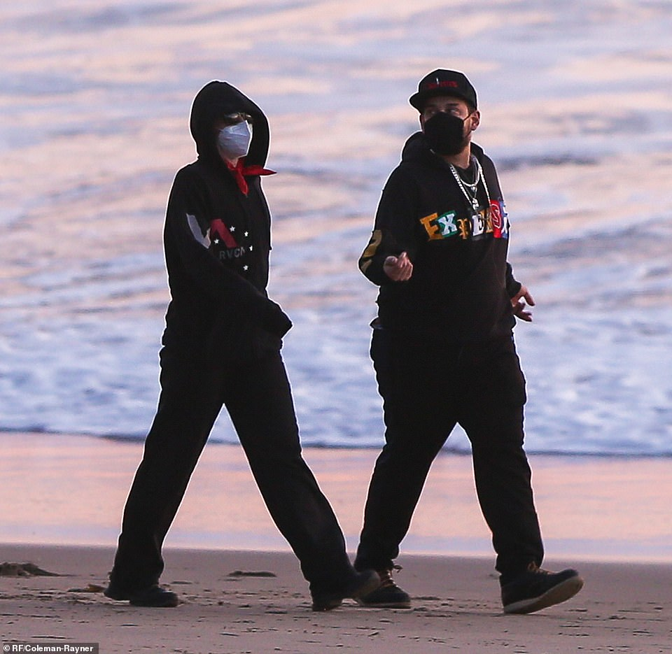 Chatty: Their friendly back-and-forth continued, while walking up and down the shoreline