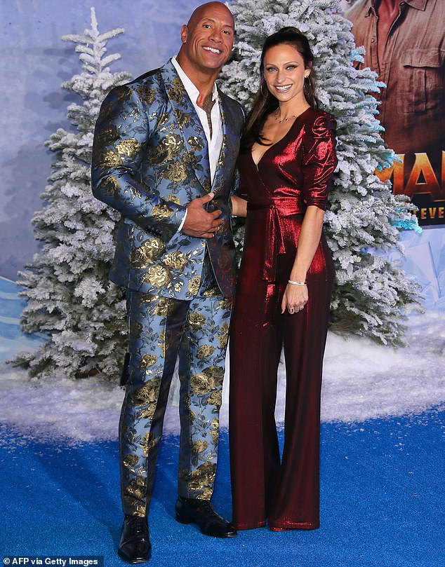 Hot couple:Dwayne shares Tiana and a five-year-old daughter called Jasmine with his second wife Lauren Hashian whom he married in 2019