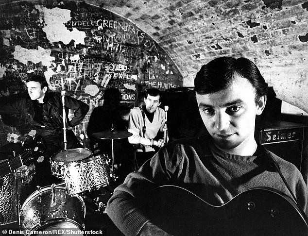 Rivals?Gerry's band were tipped to rival the Beatles in their early days. The band were in fact signed by Beatles manager Brian Epstein [pictured at The Cavern in the 1960s]