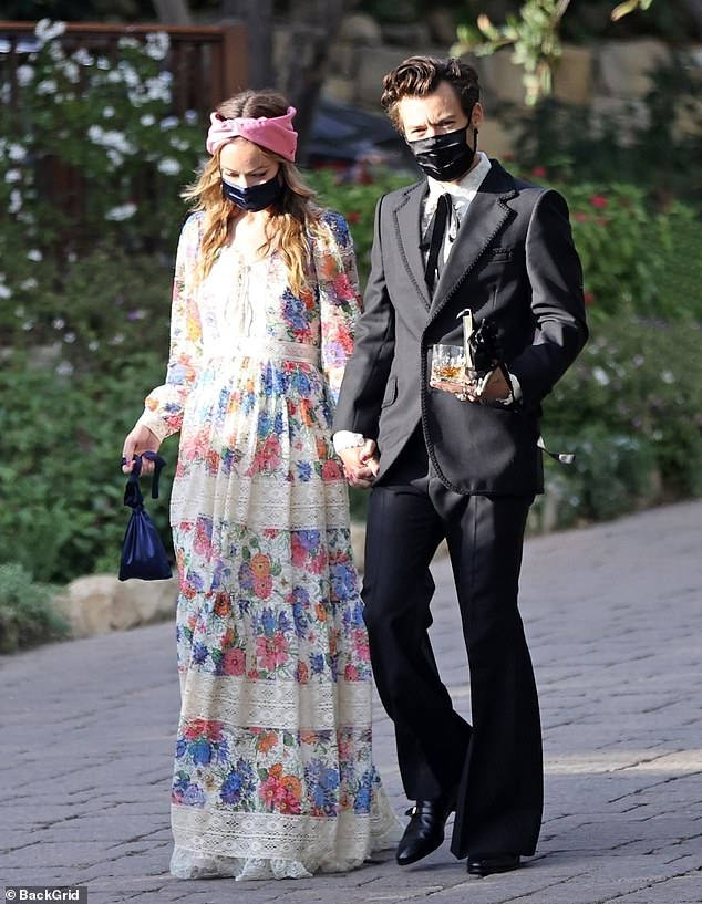Debut:Harry and Olivia made their debut as Hollywood's hottest new power at his agent's nuptials in Montecito, California earlier this year