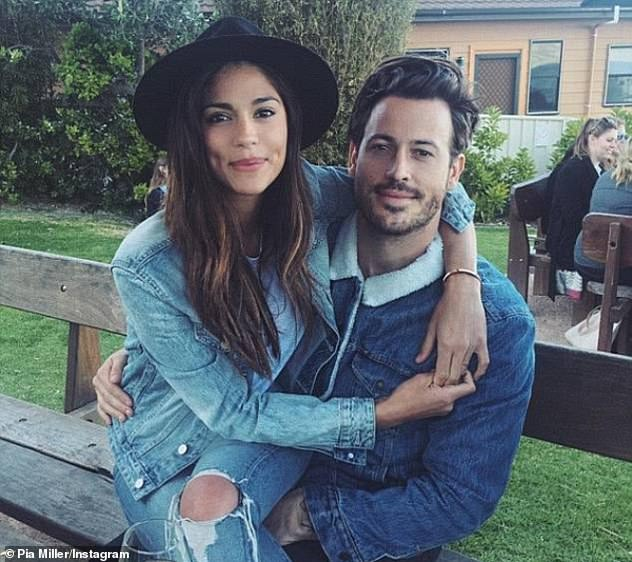 Former flame: Pia was first linked to the Hollywood power agent in August last year, following her split with her longtime fiancé, Tyson Mullane, 32.In April last year, The Daily Telegraph reported that Pia and Tyson had 'amicably' ended their 18-month engagement