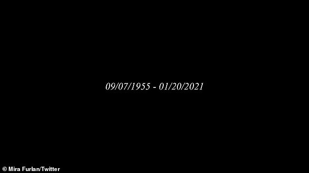 The tweet shared the date of her birth and the date of her death. No cause of death was given