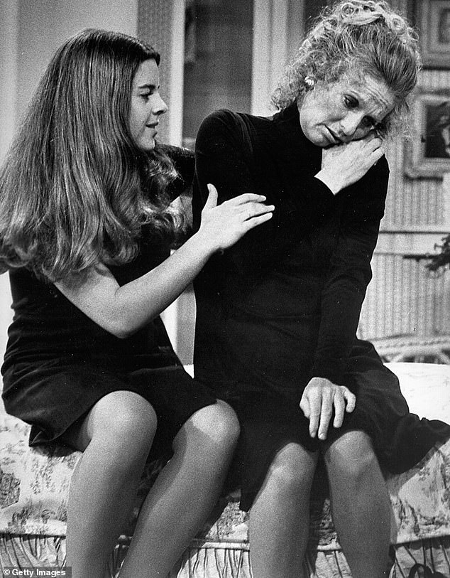 Legendary character: Cloris also starred on a spin=off of The Mary Tyler Moore Show called Phyllis which she is pictured on with Lisa Gerritson (left)