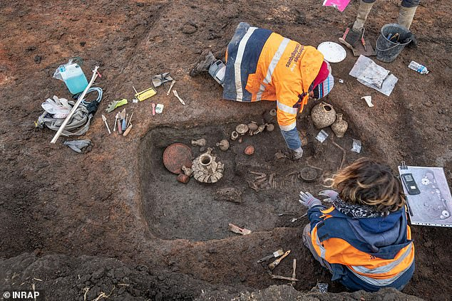 Archaeologists uncovered the burial site while surveying the area for a planned expansion at Clermont-Ferrand airport