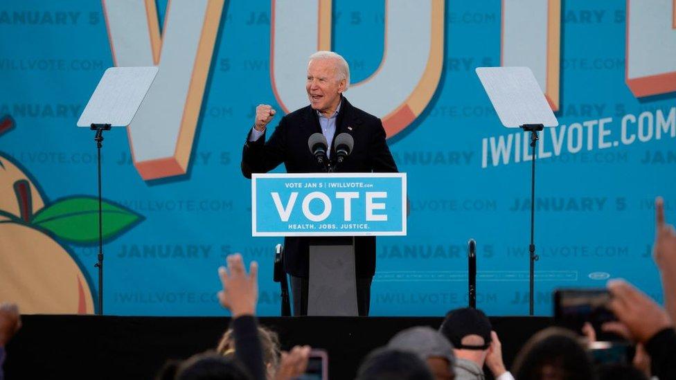 Joe Biden campaigns in Atlanta