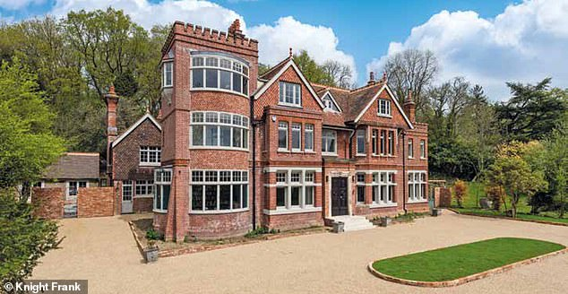 Nice digs:The Australian star, 54, is 'building her very own Tate Modern in the grounds of her English country manor Highwell House' in Crowborough, East Sussex, The Sydney Morning Heral d claimed on Friday. The mansion is pictured