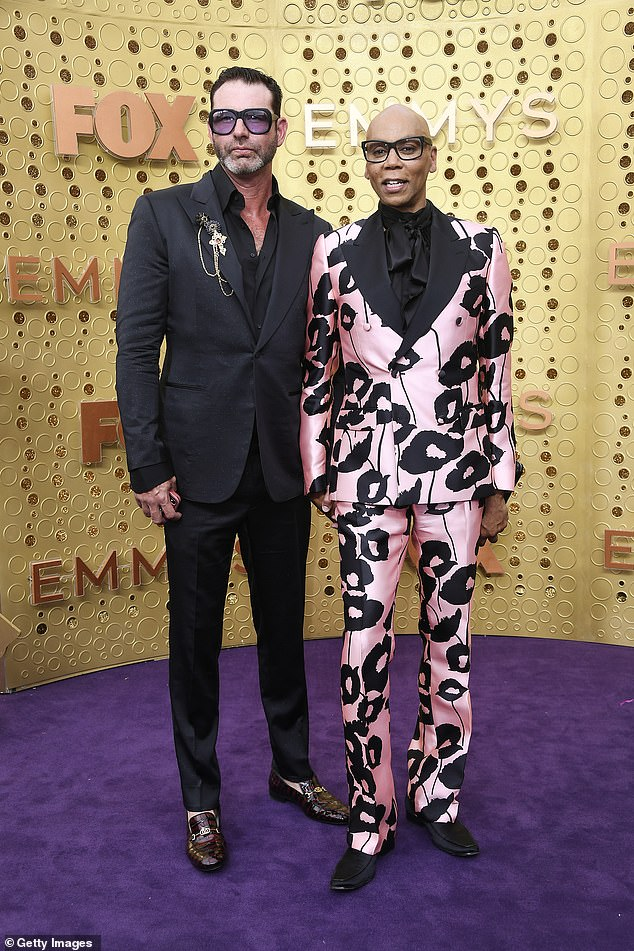 Man of the hour: There's no word so far on whether RuPaul Charles himself will be involved in the show. Pictured with his Australian husband, Georges LeBar, on September 22, 2019 in LA
