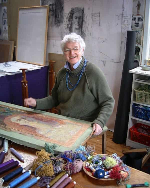 Audrey Walker in her studio, 2000.