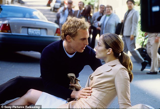 Meet cute: The native New Yorker and the blond Texan - both 51 - portrayed wedding planner Mary Fiore and pediatrician Steve Edison in Adam Shankman's 2001 rom-com