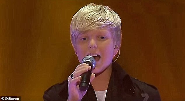 Reality star debut:Jack rose to fame as a baby-faced teenager on Australia's Got Talent in 2011 (pictured)