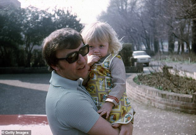 Father-of-two: The couple have two daughters, Yvette and Victoria [pictured in 1967]