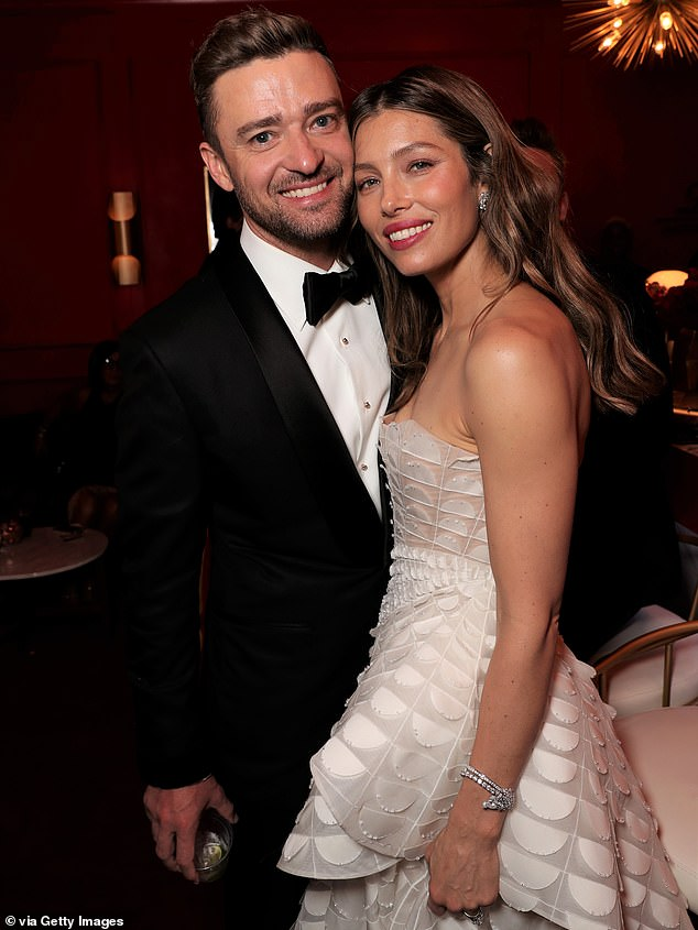 The couple's baby news comesjust eight months after Timberlake was caught canoodling with his co-star Alisha Wainwright, 31, during a night out in New Orleans, Louisiana. Timberlake and Biel are pictured in September 2018