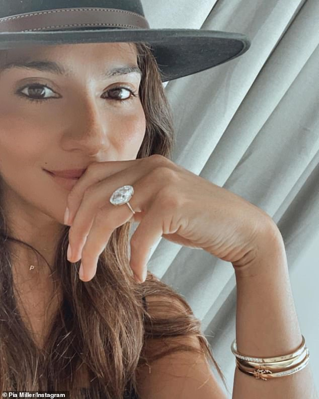 Something to smile about! Pia gave her Instagram followers a closer look at her engagement ring on December 16