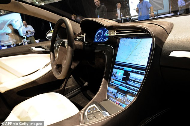 The Tesla Model S (file photo) is designed to prevent the car from sliding out of control