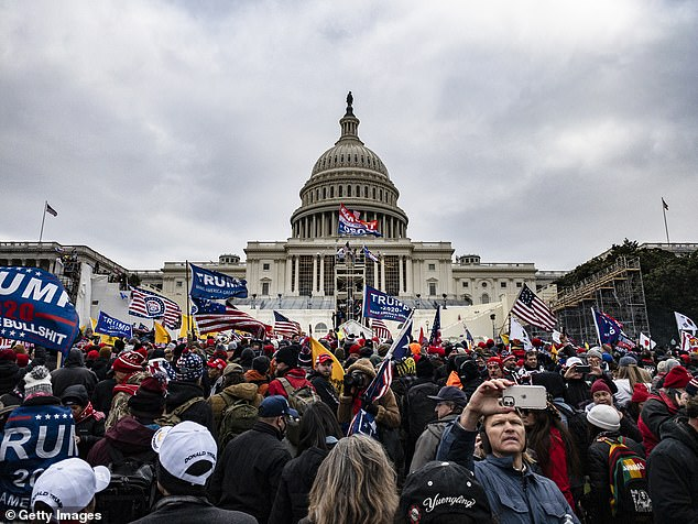 Protests: Supporters of President Donald Trump stormed the Capitol on Wednesday to protest his election loss. Authorities lost control as rioters trespassed and vandalised the building, leading to the death of four people