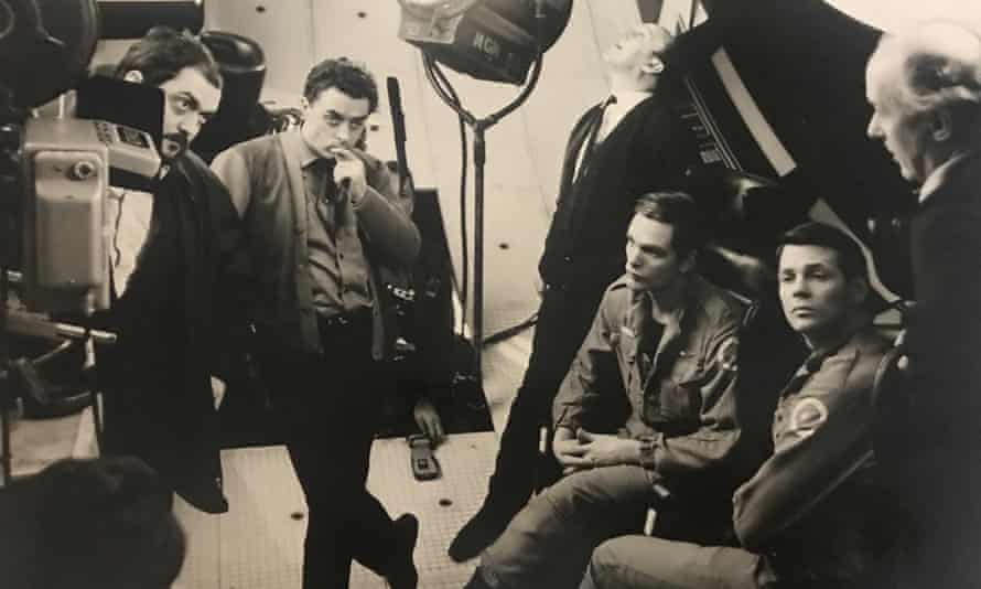 Stanley Kubrick (far left) on the set of 2001: A Space Odyssey