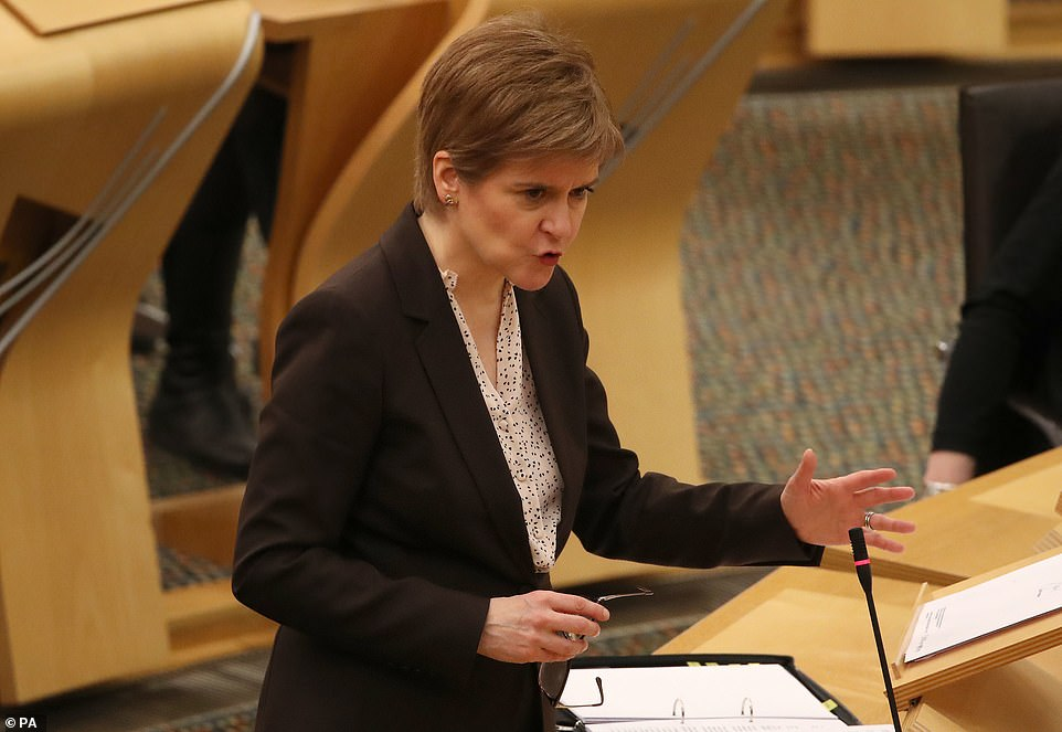 The Prime Minister's address from 10 Downing Street came after Nicola Sturgeon plunged Scotland into a new lockdown there from midnight tonight