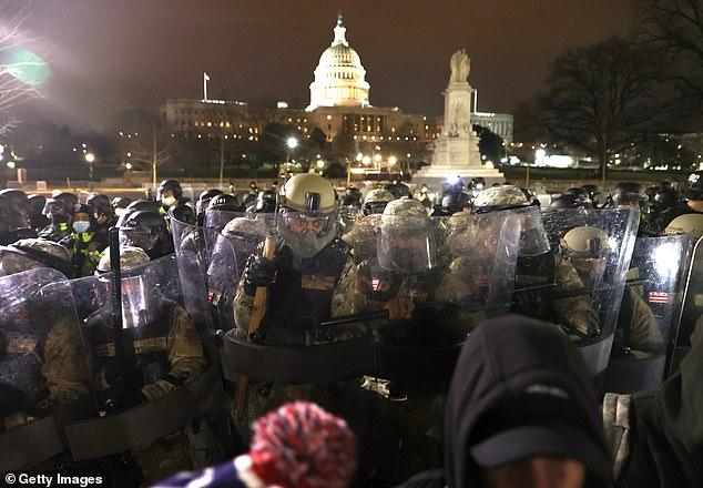The DC National Guard was deployed to the streets to help enforce a 6pm curfew