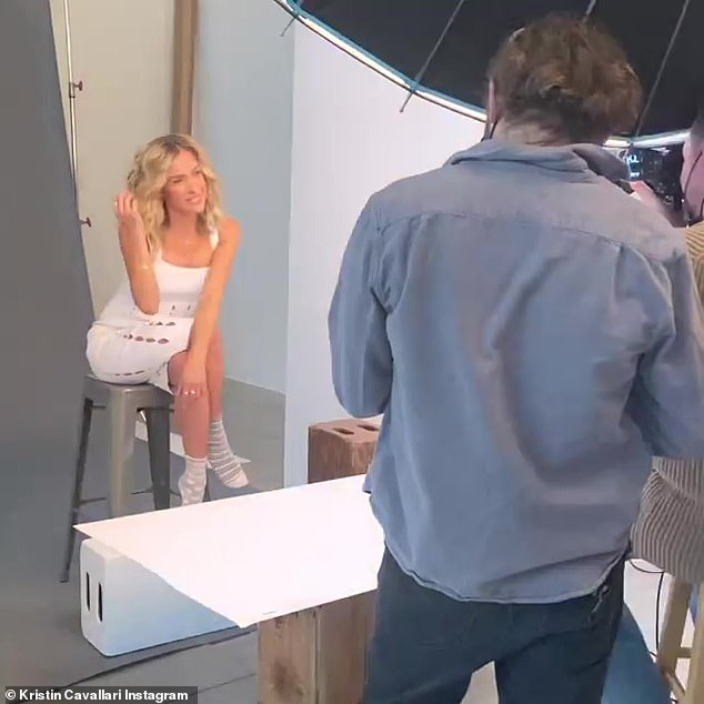 Unfazed: Cavallari appeared unbothered by LeCroy's posts as she shared behind-the-scenes footage of herself on a Sunday shoot for her company, Uncommon James