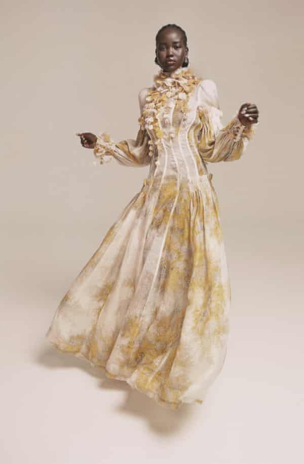 Cream and yellow dress by zimmermannwear.com