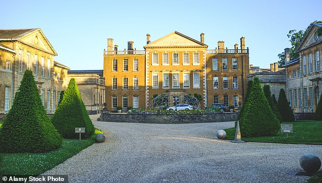 The jamboree was held at Aynhoe Park (above), a 17th-century country pile where rocker Noel Gallagher threw a raucous 50th birthday party and Jade Jagger celebrated her wedding
