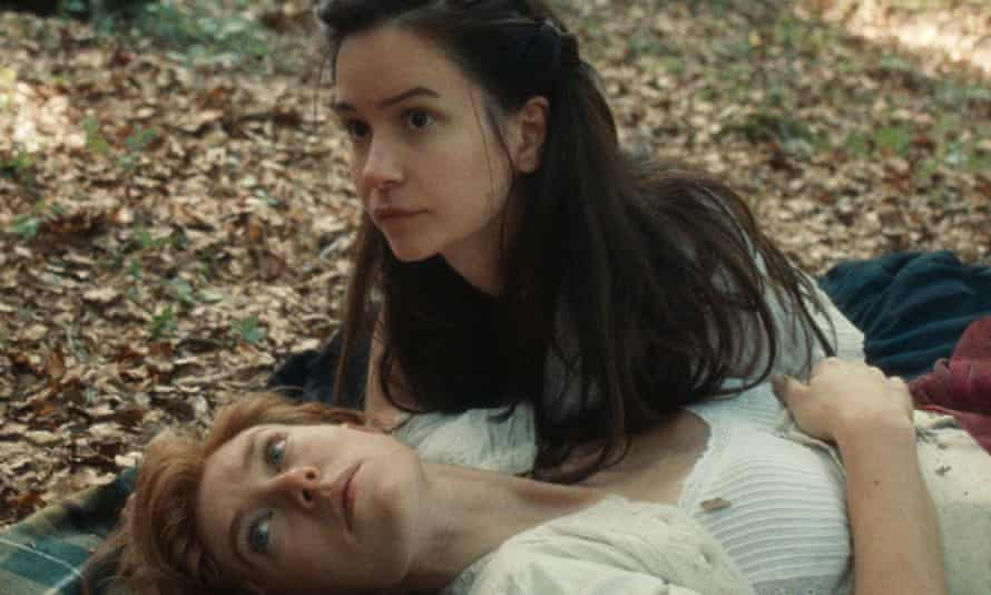 Vanessa Kirby (bottom) with Katherine Waterston in The World to Come.