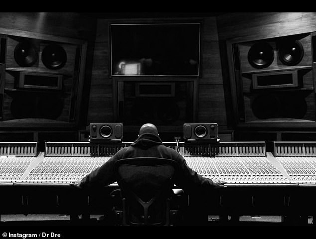 On Tuesday night, Dre took to Instagram posting a picture of himself behind a mixing desk in the recording studio together with a message of appreciation