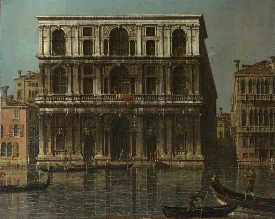 Venice: Palazzo Grimani, about 1756-68, by Canaletto