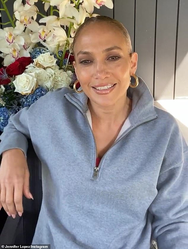 JLo agreed: 'I wanna know there's a happily ever after, I wanna know that. Even though we know we've lived through a tough year, miracles still happen, love prevails, things can go right, for sure'