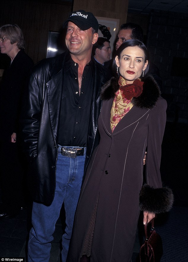 Good-looking folks: Demi and Bruce were wed from 1987 until 2000. Seen in 1997