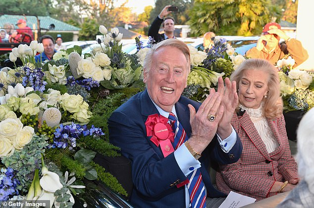 New year's smiles: The couple was snapped at the 2014 Rose Parade in Pasadena, California