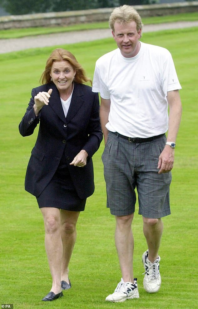 Former Household Cavalry officer Sir Harry confirms that divorce proceedings with Katherine are under way. (Sir Harry, above, with the Duchess of York)