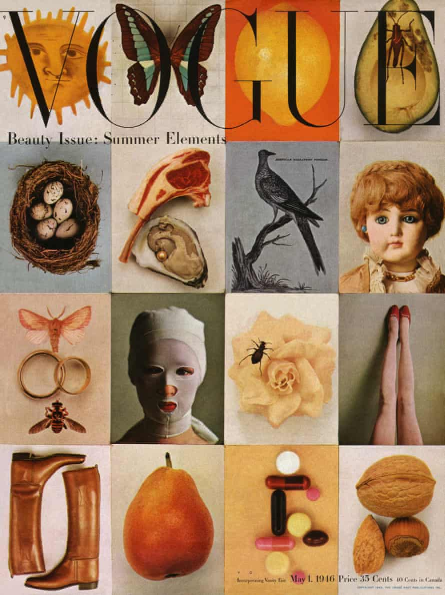 """Beauty Issue: Summer Elements,"" Vogue cover, May 1, 1946"