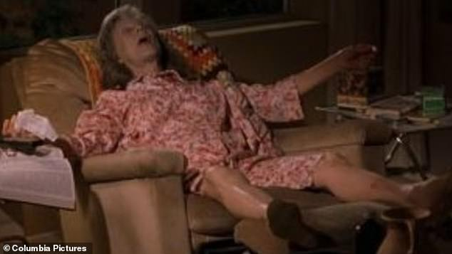 Out for the count: Cloris was a scene-stealing presence in Bad Santa as an addled old lady whose grandson becomes friends with an alcoholic mall Santa