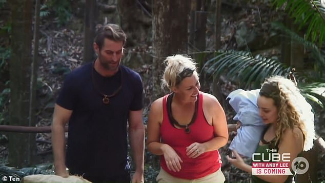 Campmates: On Sunday, Abbie entered the I'm A Celebrity... Get Me Out Of Here! jungle alongside former Block star Jess Eva andcomedian Ash Williams (all pictured)