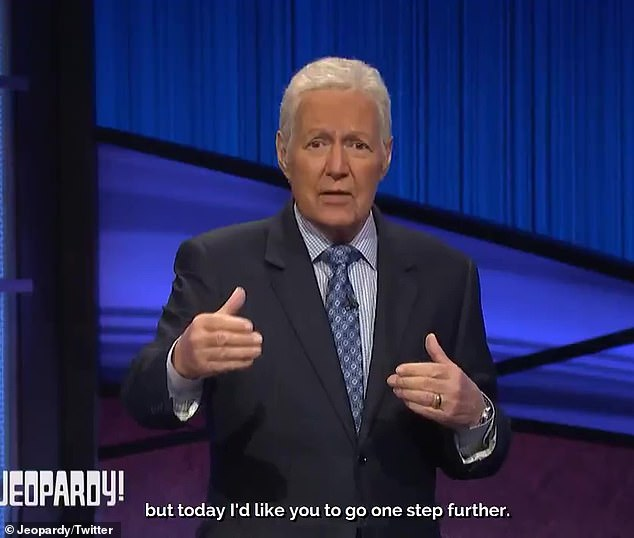 Request: Trebek told viewers, 'I'd like you to open up your hands and open up your hearts to those who are still suffering because of COVID-19'