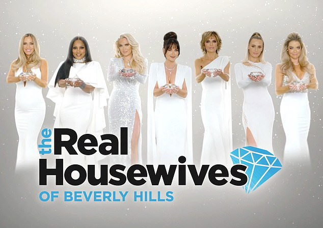 Spreading: Production on RHOBH has been shut down after Kyle and castmates Kathy Hilton and Dorit Kemsley tested positive for COVID-19 in December