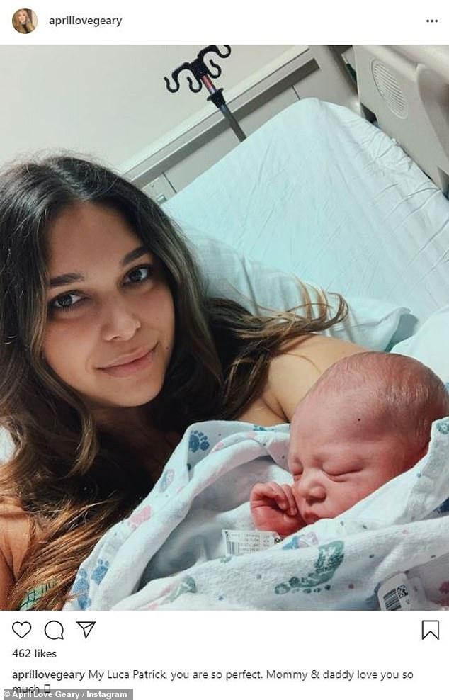 Special announcement:announced Luca's arrival via Instagram on December 11, writing: 'My Luca Patrick, you are so perfect. Mommy & daddy love you so much!'