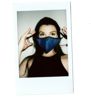 Nobody Denim reversible indigo face mask