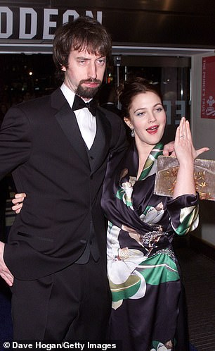 Barrymore previously divorced Canadian comedian Tom Green (L) in 2002 after 15 months of marriage (pictured in 2000)