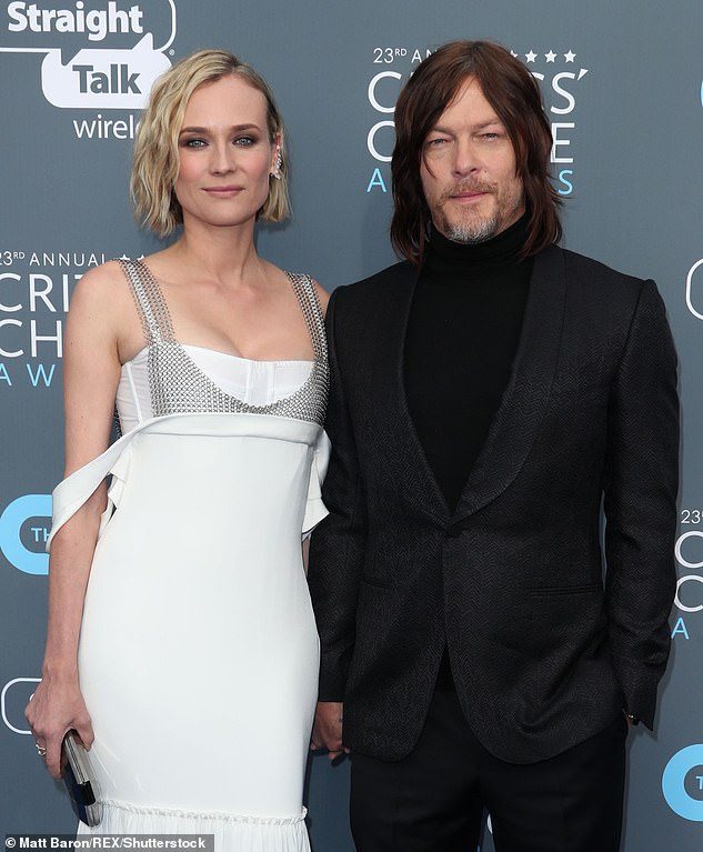 Her love:She shares her daughter with partner and The Walking Dead star Norman Reedus (pictured in January 2018)