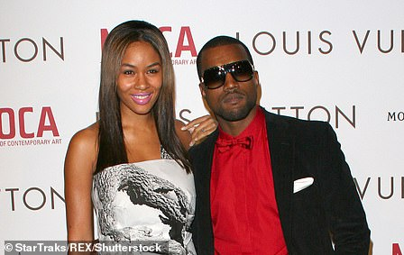 First fiancee: A then unknown Kanye started dating model and designer Alexis in 2002