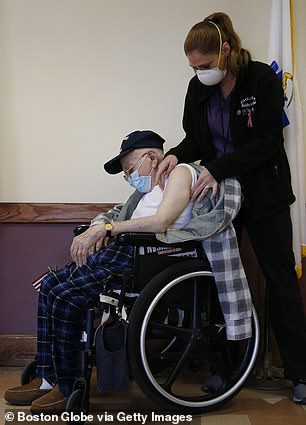 Vaccines are currently only being given to nursing home residents (pictured) and health workers - but some don't want the shots yet