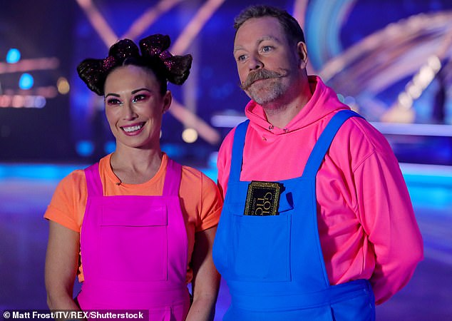 No stopping! Rufus Hound, 41, will miss this week's show as he's told to isolate after coming into contact with coronavirus (pictured with pro skater Robin Johnstone)